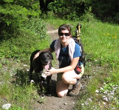 Molly and porkchop on Hurricane Creek trail (wallowa-whitman NF) 1